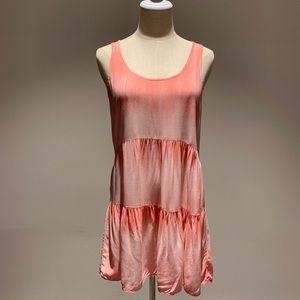 Tie Dye Beach Dress In Pink